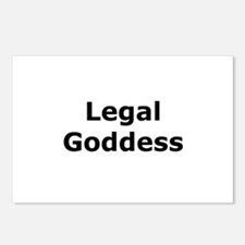 Legal Goddess Postcards (Package of 8)