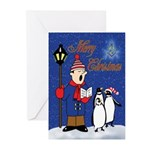 Masonic Penguins Greeting Cards (Pk of 20)