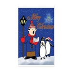 Masonic Penguins Christmas Rectangle Sticker