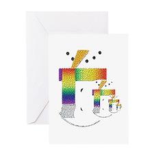 PRIDE SNOWMEN/NOEL BEAR 2 Greeting Card