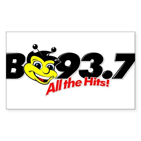 B93.7 Rectangle Sticker
