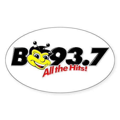 B93.7 Oval Sticker