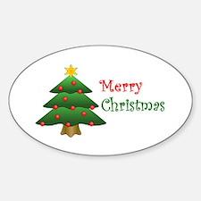 Christmas Tree Oval Decal