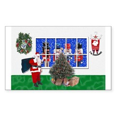 Masonic Christmas Greeting Rectangle Decal