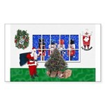 Masonic Christmas Greeting Rectangle Sticker