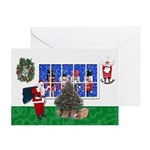 Masonic Christmas Greeting Greeting Card