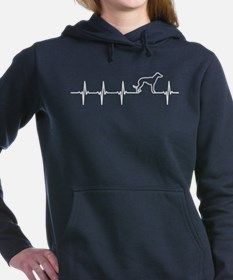 Greyhound Dog Heartbeat Women's Hooded Sweatshirt