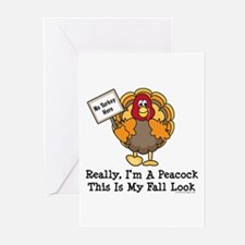 No Turkey Here Thanksgiving Greeting Cards (Pk of