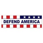 DEFEND AMERICA Bumper Sticker