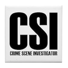 CSI - crime scene investigato Tile Coaster