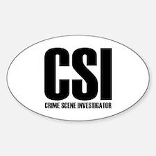 CSI - crime scene investigato Oval Decal