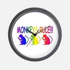 Monkeys Rule Wall Clock