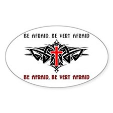 Tribal Cross Products Oval Decal