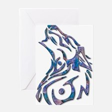 Tribal Wolf Art 9 Greeting Cards