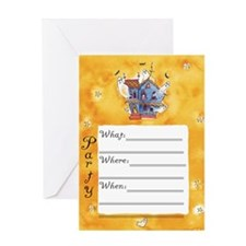 Haunted Party Invite Greeting Card