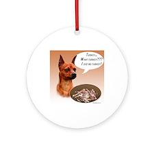 Min Pin Turkey Ornament (Round)