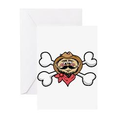 Cowboy & Crossbones Design Greeting Card