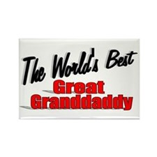 """""""The World's Best Great Grandaddy"""" Rectangle Magne"""