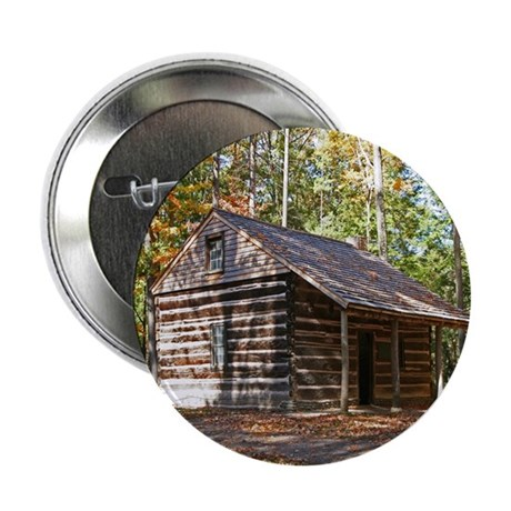 """Log Cabin In The Woods 2.25"""" Button (100 pack)"""