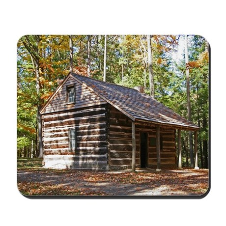Log Cabin In The Woods Mousepad By Photographz