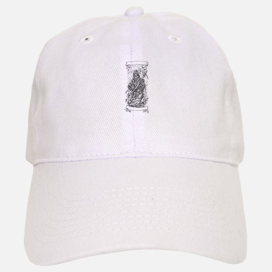 Grim Reaper Scythe Ribbon Tattoo Baseball Cap
