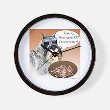 Mini Schnauzer Turkey Wall Clock