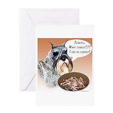 Mini Schnauzer Turkey Greeting Card