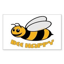 BEE HAPPY Rectangle Decal