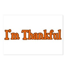 I'm Thankful Postcards (Package of 8)