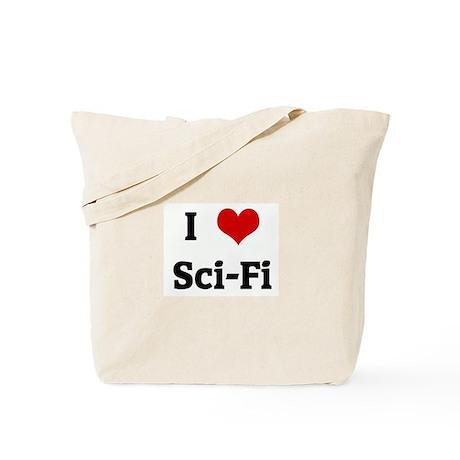I Love Sci-Fi Tote Bag
