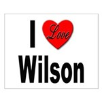 I Love Wilson Small Poster