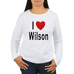 I Love Wilson (Front) Women's Long Sleeve T-Shirt