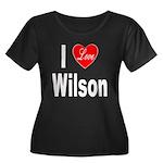 I Love Wilson (Front) Women's Plus Size Scoop Neck