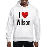 I Love Wilson (Front) Hooded Sweatshirt