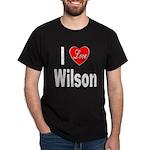 I Love Wilson (Front) Dark T-Shirt
