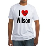 I Love Wilson (Front) Fitted T-Shirt
