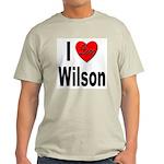 I Love Wilson (Front) Light T-Shirt