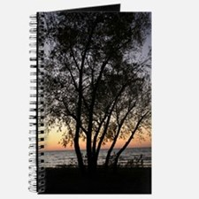 Silhouetted Tree at Sunset Journal