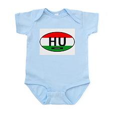 Hungary Full Flag Infant Bodysuit