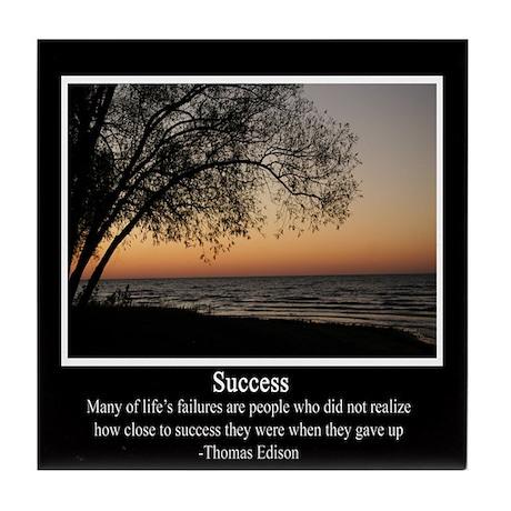 Thomas Edison-Success Tile Coaster