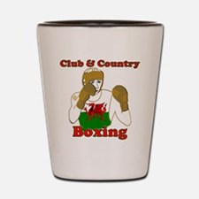 Wales club and country boxing Shot Glass