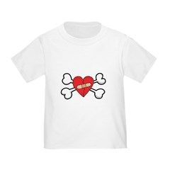 Broken Bandaged Heart & Crossbones Toddler