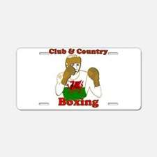 Wales club and country boxi Aluminum License Plate