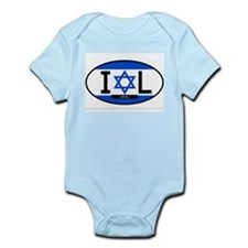 Israel Full Flag Infant Bodysuit