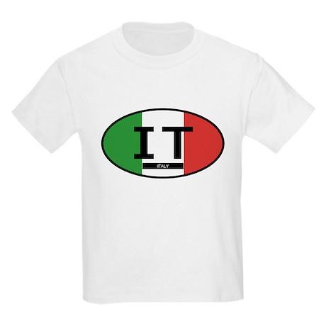 Italy Full Flag Kids Light T-Shirt