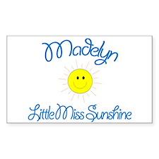 Madelyn - Little Miss Sunshin Sticker (Rectangular