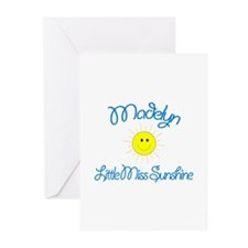 Madelyn - Little Miss Sunshin Greeting Cards (Pk o