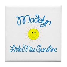 Madelyn - Little Miss Sunshin Tile Coaster