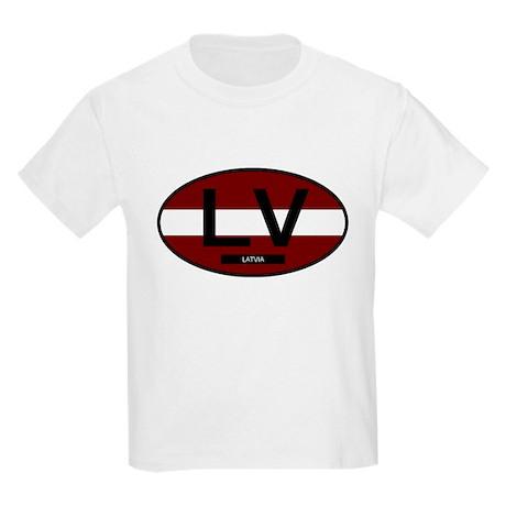 Latvia Full Flag Kids Light T-Shirt