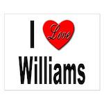 I Love Williams Small Poster